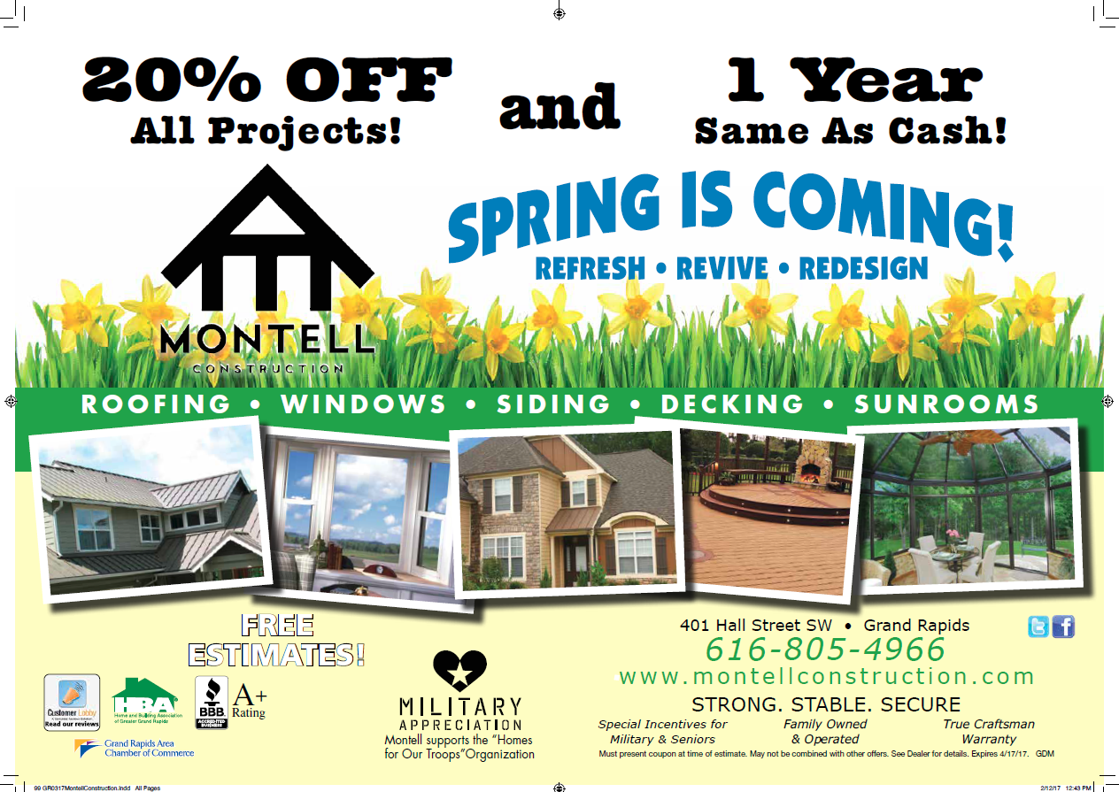 Montell Specials Spring 2017
