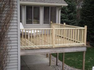 Backyard Deck Grand Rapids Montell Construction